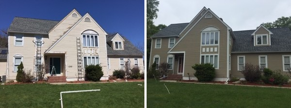 Before and After Exterior Painting in Framingham, MA (1)
