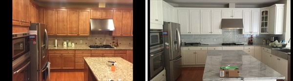 Before & After Cabinet Refinishing in Needham, MA by Torres Painting Inc (1)