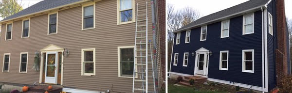 Before & After House Painting in Northborough, MA (1)