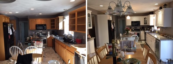 Before & After Cabinet Refinishing in Framingham, MA (1)