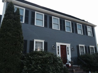 Before and After Exterior House Painting in Westwood, MA