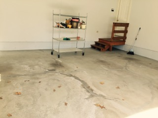 Before and After Garage Floor Epoxy in Westwood, MA