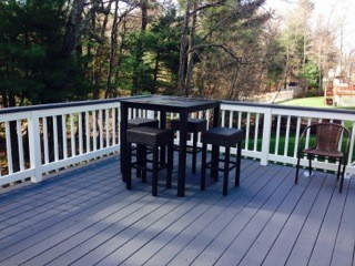 After Deck Painting in Framingham, MA