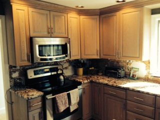 Before Cabinet Refinishing in Framingham, MA
