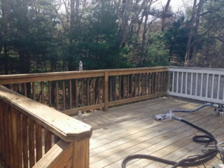 Before Deck Painting in Framingham, MA