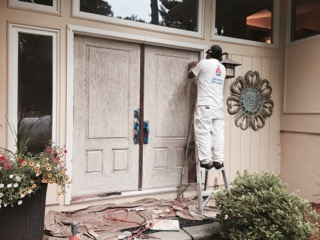 Exterior Door Refinishing in South Natick, MA
