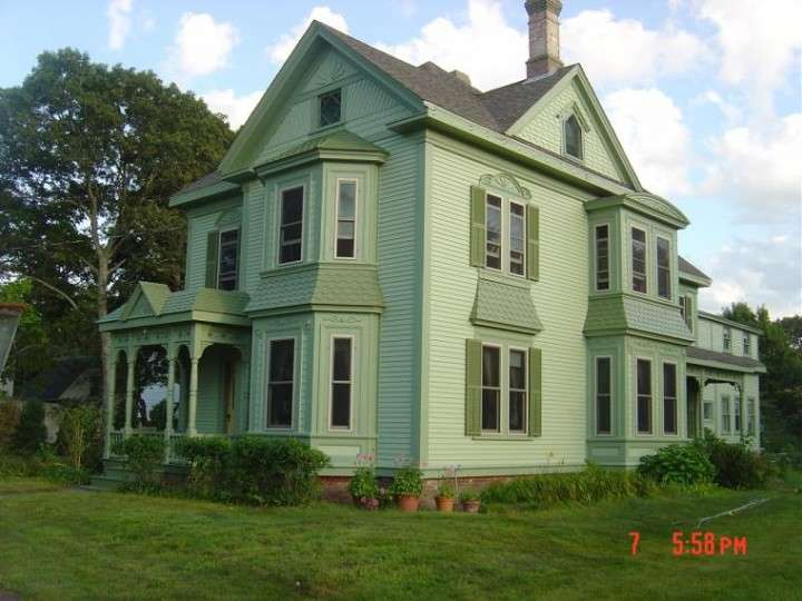 After exterior painting of old Victorian home in Cape Cod, MA